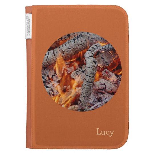 © P Wherrell Fire embers  stylish fine art photo Kindle Folio Cases