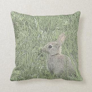 © P Wherrell Gorgeous rabbit fine art nature photo Throw Pillow