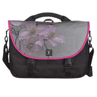 © P Wherrell Gorgeous stylish pale pink clematis Laptop Messenger Bag