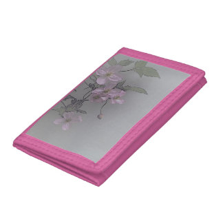 © P Wherrell Gorgeous stylish pale pink clematis Wallet