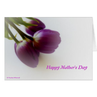 © P Wherrell Happy Mother's Day pink tulips Cards