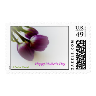 © P Wherrell Happy Mother's Day pink tulips Postage Stamp