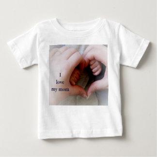 © P Wherrell I love my mom mother baby hands heart Baby T-Shirt