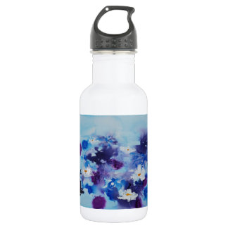 © P Wherrell Impressionist unique waterlilies 18oz Water Bottle