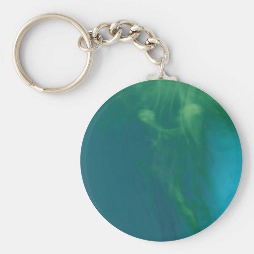 © P Wherrell Mermaid underwater abstract figure Basic Round Button Keychain