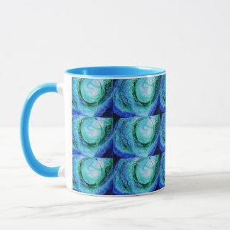 © P Wherrell Ocean lover fine art wave blue green Mug