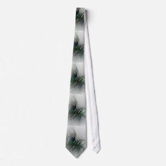 © P Wherrell Pale stylish peacock feathers Tie