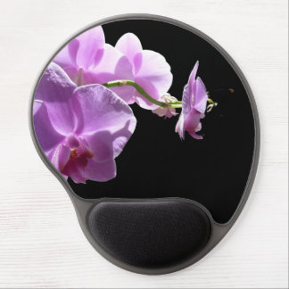 © P Wherrell Pink orchid on black background Gel Mouse Mat