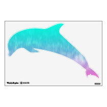 © P Wherrell Pretty colorful abstract dolphin kids Wall Decal