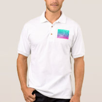 © P Wherrell Pretty colorful circles geometric Polo Shirt