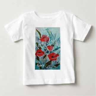 © P Wherrell Red poppies Fine art painting Baby T-Shirt