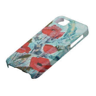 © P Wherrell Red poppies Fine art painting iPhone 5 Case