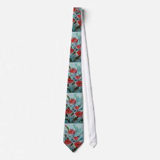 © P Wherrell Red poppies Fine art painting Neck Tie