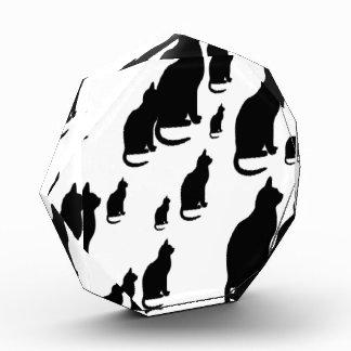 © P Wherrell Silhouette lucky black cats Acrylic Award
