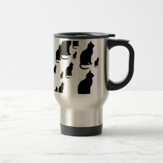 © P Wherrell Silhouette lucky black cats Travel Mug