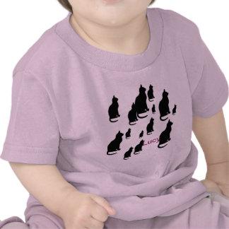 © P Wherrell Silhouette lucky black cats T-shirt