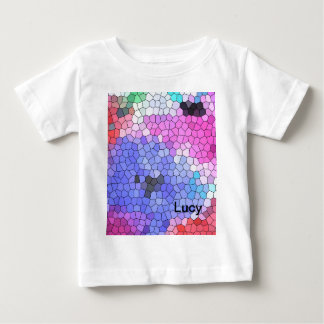 © P Wherrell Stained glass mosaic anemones on silk Baby T-Shirt