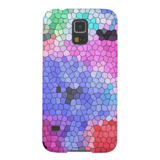 © P Wherrell Stained glass mosaic anemones on silk Galaxy S5 Cases