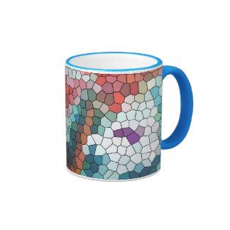 © P Wherrell Stained glass mosaic waterlilies Coffee Mugs