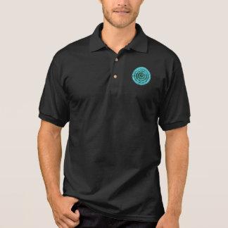 © P Wherrell Stylish blue circle geometric pattern Polo Shirt