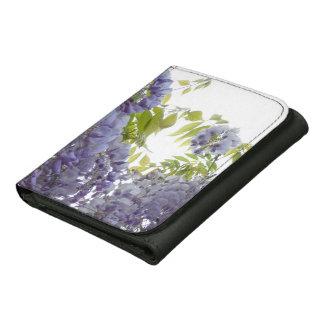 © P Wherrell Stylish Fine art photograph wisteria Leather Tri-fold Wallet