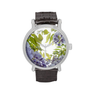 © P Wherrell Stylish Fine art photograph wisteria Wrist Watch