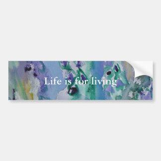 © P Wherrell Stylish trendy impressionist bluebell Bumper Sticker