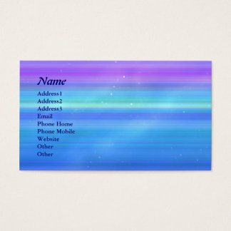 © P Wherrell Stylish trendy pink blue stripes star Business Card