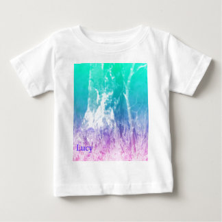 © P Wherrell Summer landscape in blue and pink Baby T-Shirt
