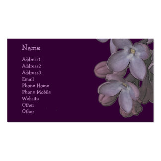 © P Wherrell Trendy artistic lilac flowers Double-Sided Standard Business Cards (Pack Of 100)