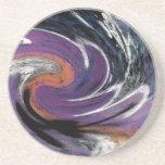 © P Wherrell Trendy digital abstract swirl pattern Drink Coaster