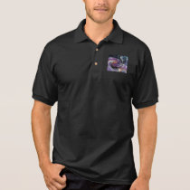 © P Wherrell Trendy digital abstract swirl pattern Polo Shirt