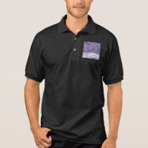 © P Wherrell Trendy pale purple geometric abstract Polo Shirt