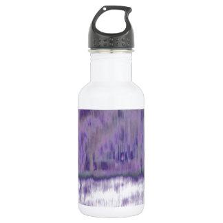 © P Wherrell Trendy pale purple geometric abstract Water Bottle