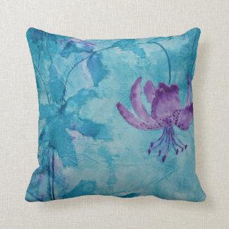 © P Wherrell Trendy stylish trailing purple flower Pillow