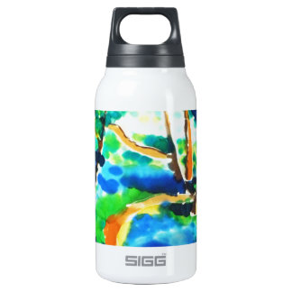 © P Wherrell Winding path woods silk painting 10 Oz Insulated SIGG Thermos Water Bottle