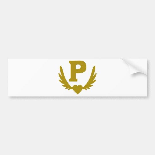 P-Winged-Heart.png Bumper Sticker
