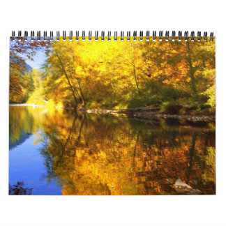PA213220a (1)-1 Captured bodies of water Wall Calendar