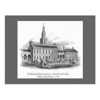 PA 1774 de Pasillo Philly de la independencia del Postales