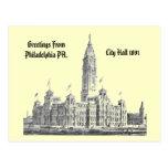 PA 1891 de ayuntamiento Philadelphia Postales