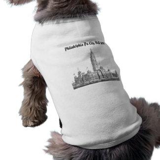 PA 1891 de ayuntamiento Philadelphia Playera Sin Mangas Para Perro