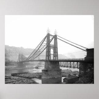 PA 1900 de Pittsburgh del puente de Pointe Poster
