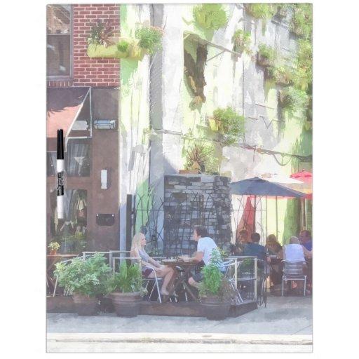 PA al aire libre de Philadelphia del café Pizarras