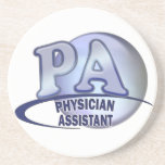 PA BLUE LOGO PHYSICIAN ASSISTANT BEVERAGE COASTERS
