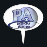 "PA BLUE LOGO PHYSICIAN ASSISTANT CAKE TOPPER<br><div class=""desc"">PA BLUE LOGO PHYSICIAN ASSISTANT CUSTOMIZABLE - ADD TEXT OR GRAPHICS - ADD OR REMOVE BACKGROUNDS ON SPECIFIED MERCHANDISE</div>"