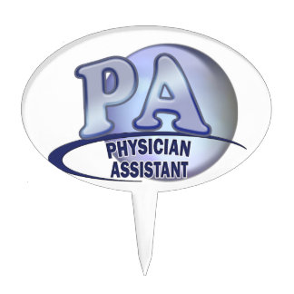 PA BLUE LOGO PHYSICIAN ASSISTANT CAKE TOPPER