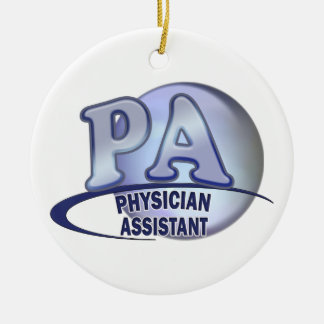 PA BLUE LOGO PHYSICIAN ASSISTANT CERAMIC ORNAMENT