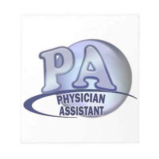 PA BLUE LOGO PHYSICIAN ASSISTANT NOTE PAD
