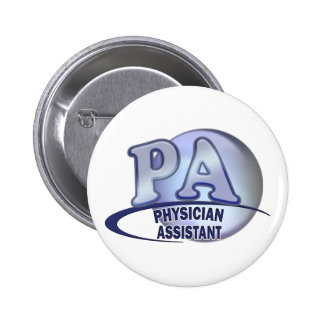 PA BLUE LOGO PHYSICIAN ASSISTANT PINBACK BUTTON