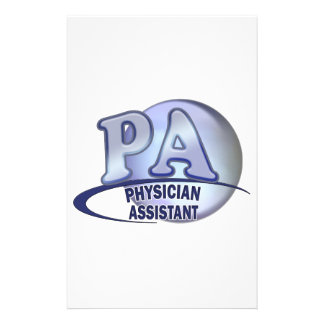 PA BLUE LOGO PHYSICIAN ASSISTANT STATIONERY DESIGN